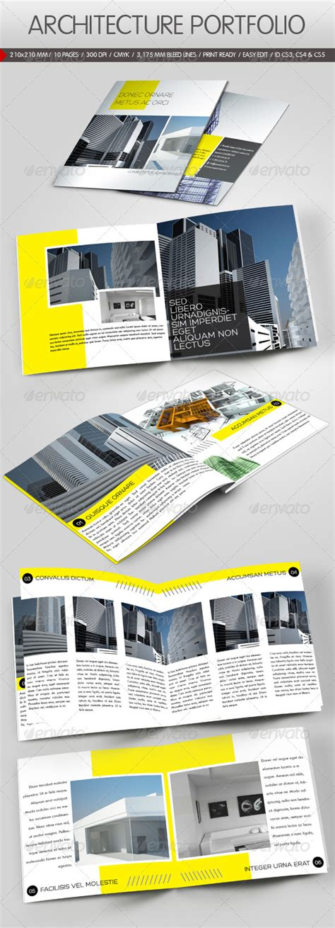 Construction Company Brochure By Yderindere Graphicriver Construction Portfolio Template