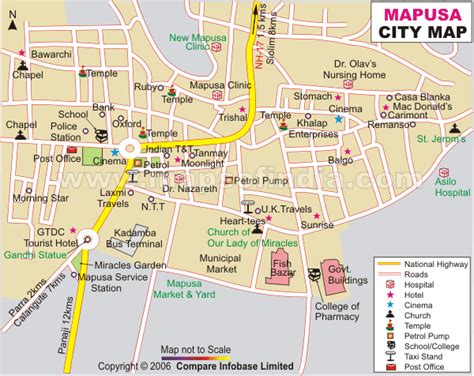 road map from mapusa to pandharpur mapusa city map