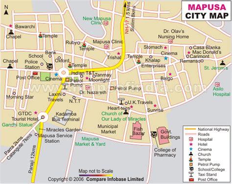 road map from mapusa to belgaum mapusa city map
