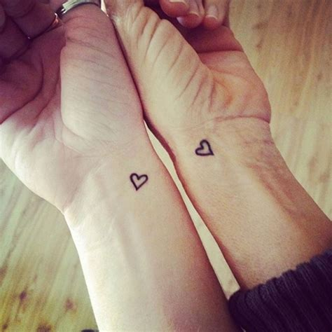 best friend heart tattoos 90 great best friend tattoos friendship inked in skin