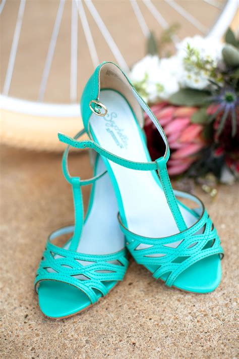 turquoise wedding shoes seychelles turquoise vintage inspired wedding shoes