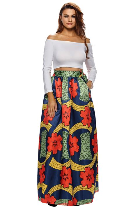 colorful maxi skirts in colorful floral print navy maxi skirt