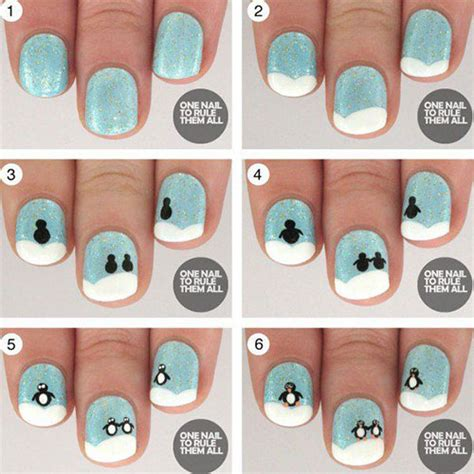nail art tutorial for beginners step by step 15 easy step by step winter nail art tutorials for