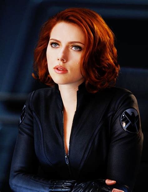 black widow hair color johansson as black widow the
