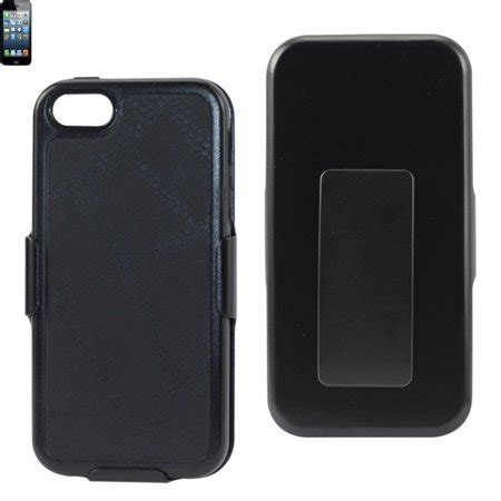 Iphone 5 5s Shell Holster Combo W Kickstand Black Bulk A4c Reiko Iphone Se 5s 5 Holster Combo With Kickstand In Black Walmart