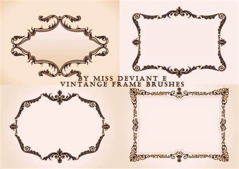cornici gimp vintage frame brushes by miss deviante on deviantart