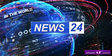 broadcast design news package 7132979 after effects