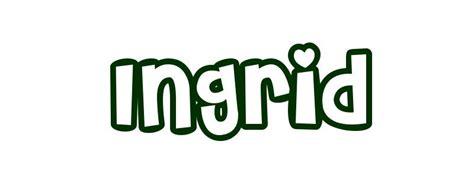 Coloring Page First Name Ingrid