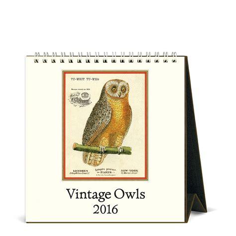 Cavallini Calendar Cavallini Papers 2016 Desk Calendar Vintage Owls 6 X 6