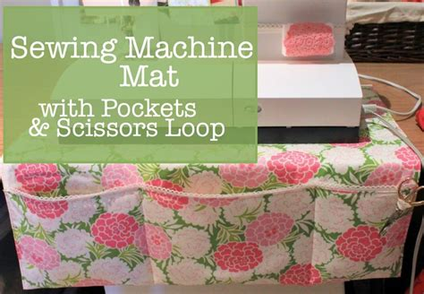 sewing mats for tables tutorial sewing machine mat with pockets placemat