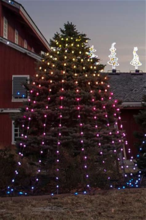 vertical hanging christmas lights animated lighting products just add power string and spiral trees
