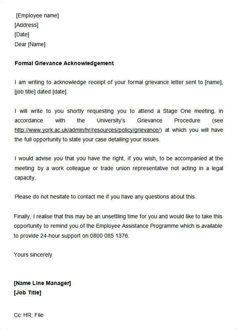 sample acknowledgement letters writing letters