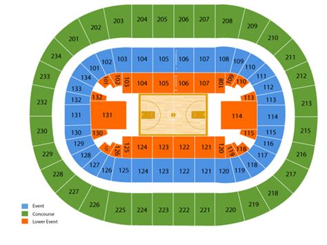 bryce center detailed seating chart bryce center seating chart events in state