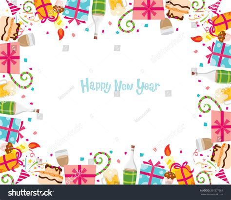 new year display borders new year border merry stock vector