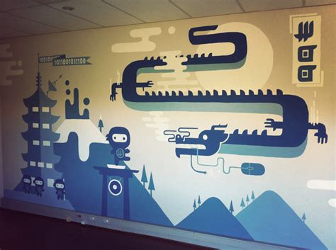 office wall mural woohq office murals woothemes