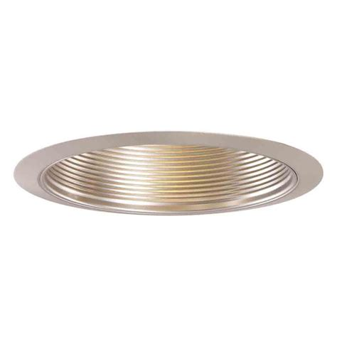 Ceiling Recessed Lights Halo 953 Series 4 In Satin Nickel Recessed Ceiling Light Trim With Baffle 953sn The Home Depot