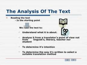 How To Write A Text Analysis Essay by The Analysis Of The Text