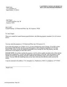 Rental Abandonment Letter How To Write A Letter To Tenants About A House Inspection Here S A Sle Cover Letter To Help
