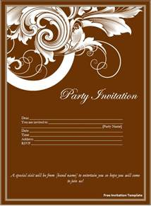 Invite Templates Free In Word Free Invitation Template Download Page Word Excel Pdf