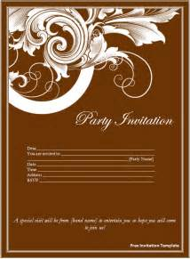 Free Invitation Templates For Word by Free Invitation Template Page Word Excel Pdf