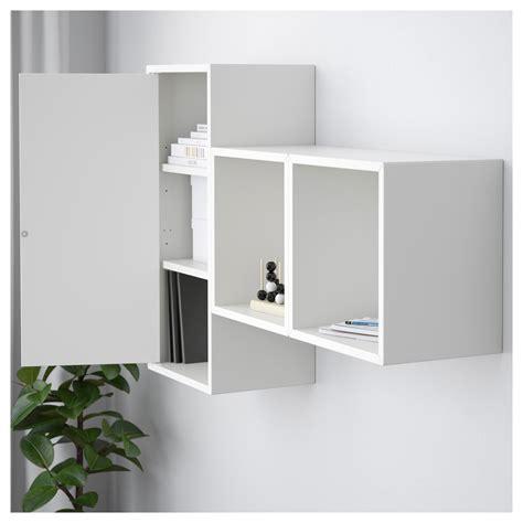 wall mounted cabinets ikea eket wall mounted cabinet combination white 105x25x70 cm ikea