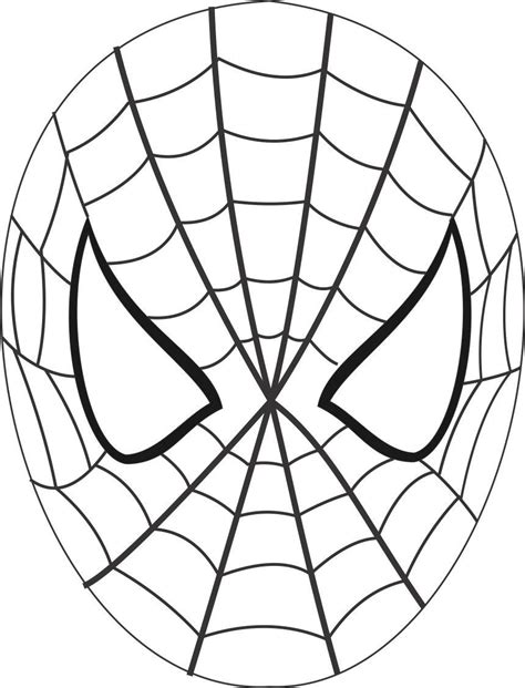 free coloring pages of spiderman outline
