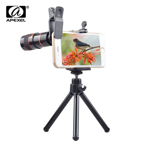 Mobile Phone Telescope 8x Zoom universal clip 8x zoom mobile phone telescope lens telephoto external smartphone lens for