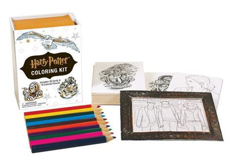 harry potter coloring book bam harry potter coloring kit by warner bros booksamillion