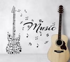 Guitar Wall Stickers Guitar Wall Decals Music Instrument Notes Decal Vinyl