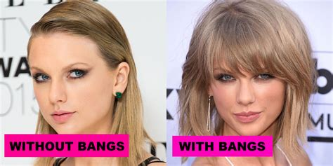celeb hair bangs or no bangs toofab photo gallery 19 celebs with and without bangs