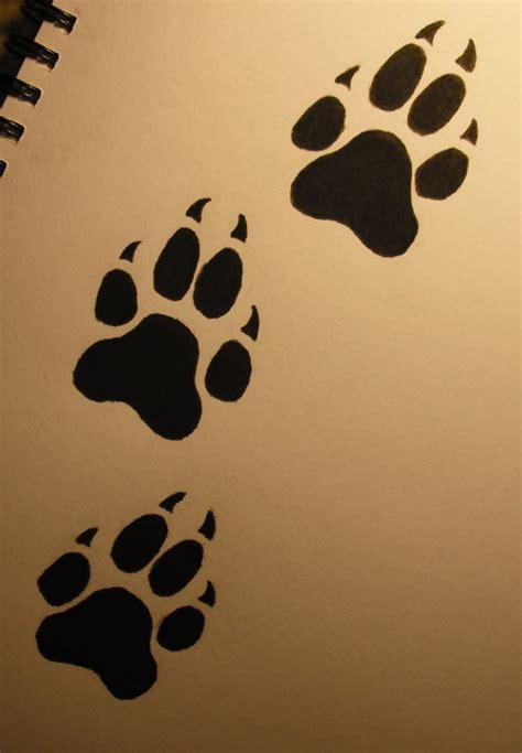 wolf print tattoo paw print designs gallery best