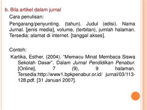 format penulisan daftar pustaka menurut apa penulisan daftar pustaka