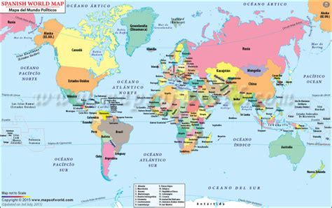 english world map printable world map in spanish mapa del mundo mapas pinterest