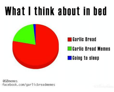 Go Sleep Meme - what i think about in bed garlic bread garlic bread memes