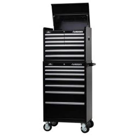 Husky 7 Drawer Tool Chest by Husky 27 In W 16 Drawer Tool Chest And Cabinet Set H9ch3 H7tr3 The Home Depot
