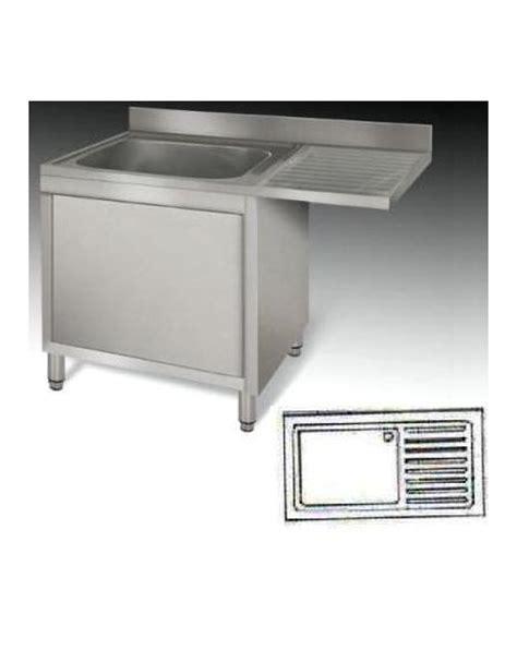 lavello inox 1 vasca lavello armadiato inox 1 vasca gocciolatoio cm 140x70x85h