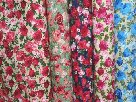 large print upholstery fabric large rose print polycotton fabric