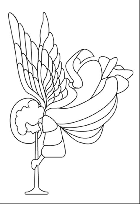 Nativity Angel Coloring Page | free coloring pages of nativity angels
