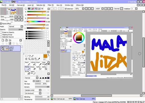 descargar paint tool sai gratis baixar painttool sai 1 2 5 gr 225 tis