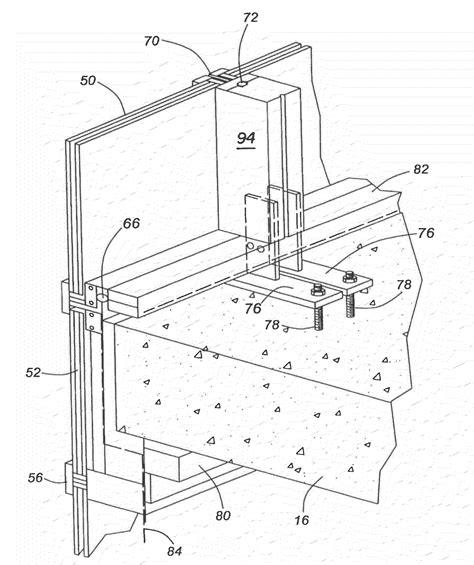 curtain wall installation method patent us20100050547 hybrid window wall curtain wall