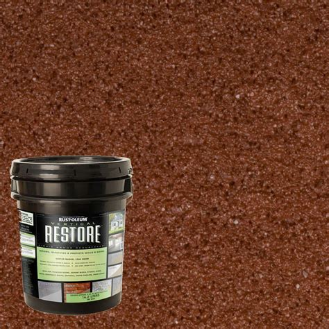 rust oleum restore 4 gal navajo vertical liquid armor resurfacer for walls and siding 43524