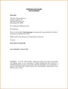 Write Certification Letter certification letter example certification letter example type on by