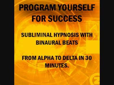program your subconscious mind for success with subliminal