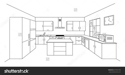 sketch drawing of a kitchen with island google search bathroom drawings google search muskoka kitchen