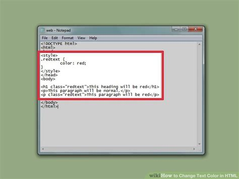 how to change color in html how to change text color in html with pictures wikihow
