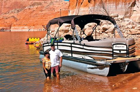 deck boat lake powell only on lake powell pontoon deck boat magazine