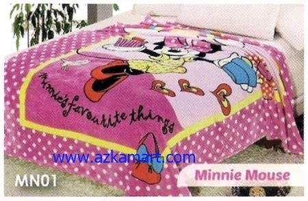 Selimut Soft Lch Minnie Mouse toko selimut murah jual selimut sprei bed cover