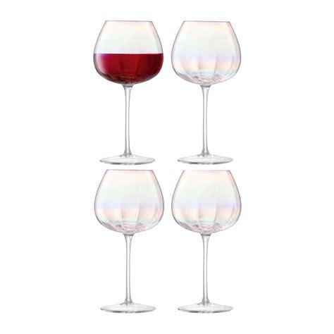 Wine Glass Set Buy Lsa International Pearl Wine Glass Set Of 4 Amara