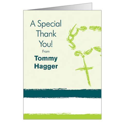 confirmation thank you card template rosary green invitation communion invitations