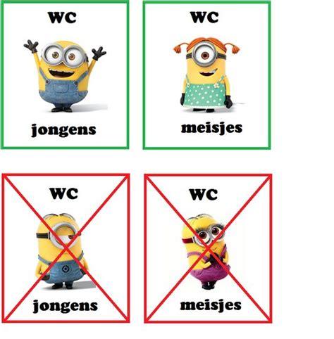 pictogrammen toilet bezoek toiletkaartjes minions school voor in de klas